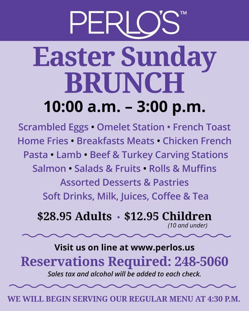 Easter Sunday Brunch Menu